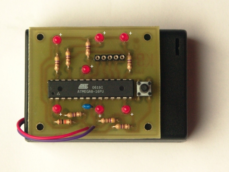 tuxgraphics.org: An AVR microcontroller based electronic dice