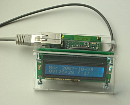 [LCD display + AVR webserver SMD board]