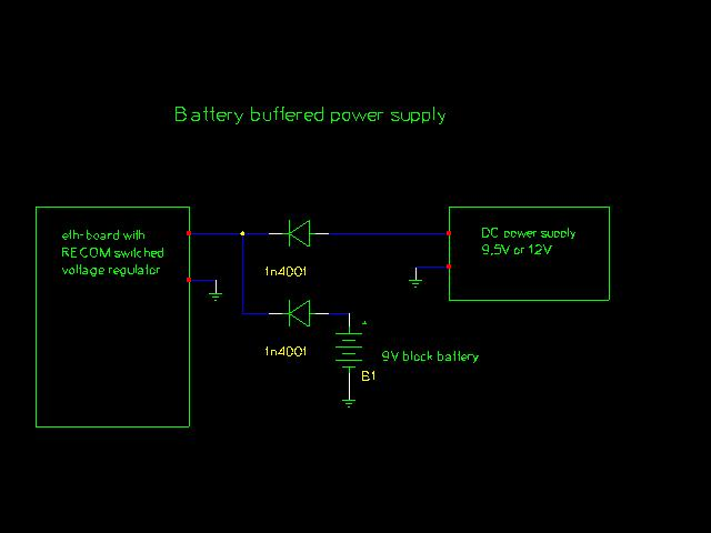 circuit diagram: 9V battery buffer