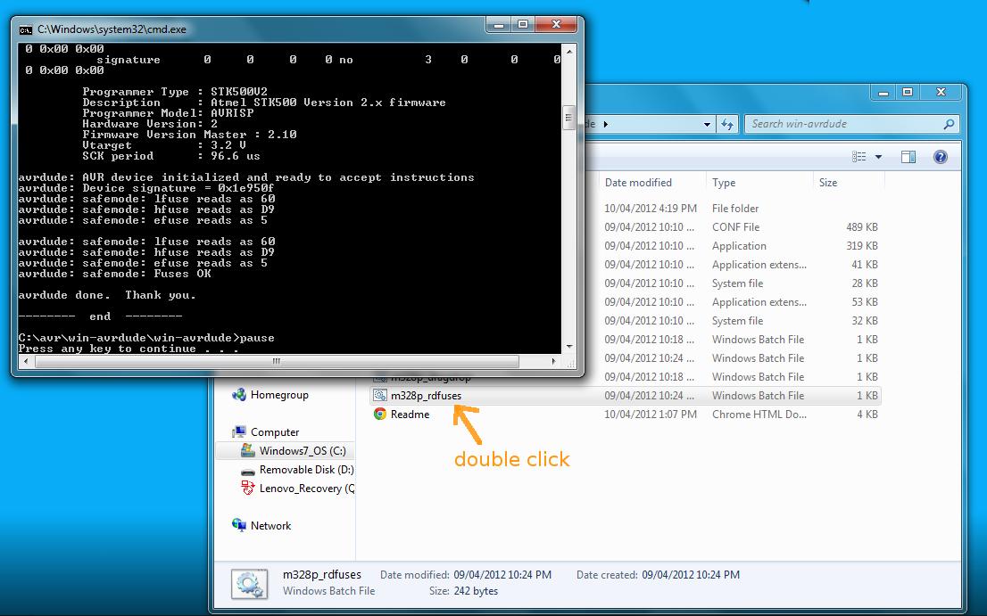 tuxgraphics org: Windows: AVR microcontroller programming in C