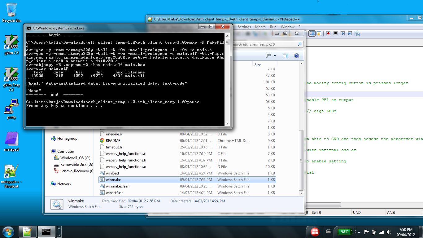 c programming avr microcontroller