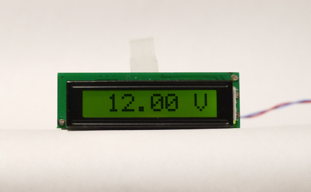 Programmable 8 Character Lcd Module And Digital Potential Divider For Voltmeter Pic Circuit The Configurable Dvm Showing 12v