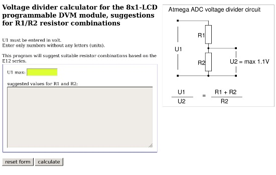 [javascript voltage divider calculator]